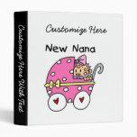 New Nana Baby in Carriage Gifts Vinyl Binders