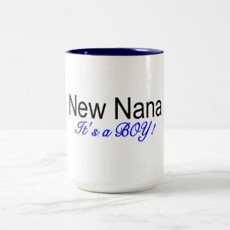 New Nana Its A Boy Two-Tone Coffee Mug