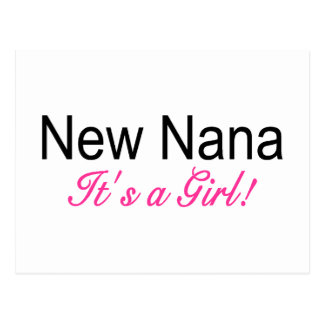 New Nana Its A Girl Postcard