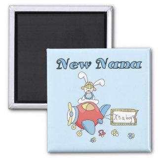 New Nana of Boy-Airplane Tshirts and Gifts 2 Inch Square Magnet