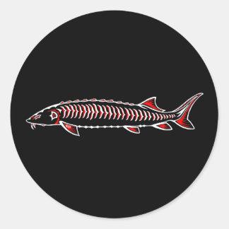 New Native - White Sturgeon Classic Round Sticker