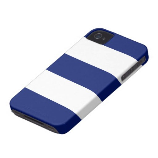 New Navy Blue & White Stripe iPhone Case Gift iPhone 4 Case