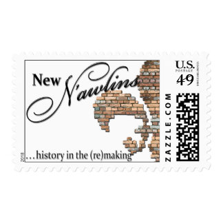 """""""new N'awlins"""" postcard stamps"""
