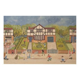 New Neighbourhood Wood Print