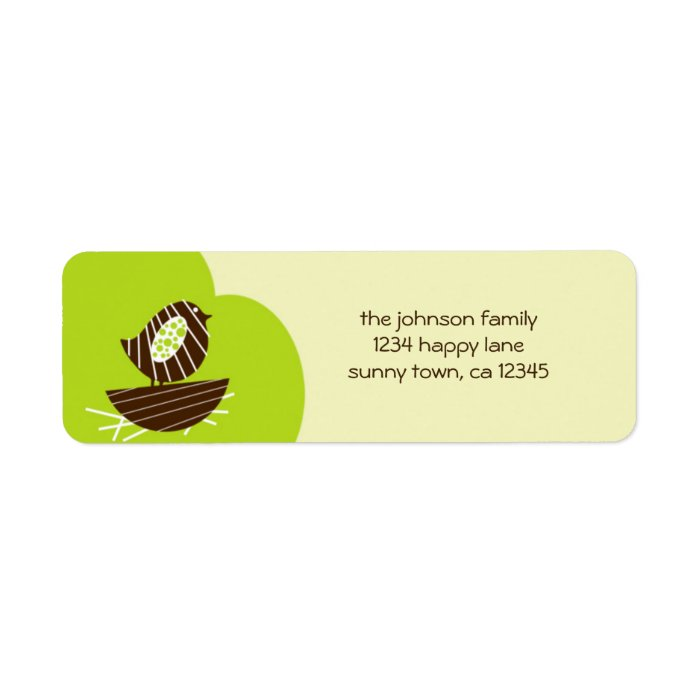 New Nest Return Address Label