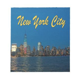 New New York City Lights Memo Note Pad