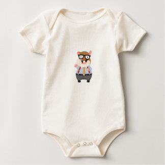 New NewBorn Baby BodySuit Hamster White toddler
