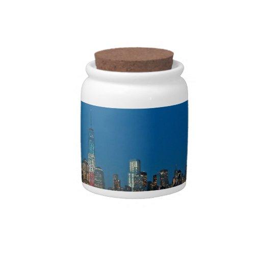 New night lights of New York City USA Candy Jars