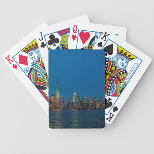 New night lights of New York City USA Playing Cards