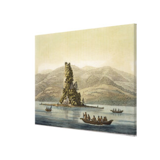 New Norfolk near Vancouver (colour engraving) Canvas Print