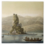 New Norfolk near Vancouver (colour engraving) Large Square Tile