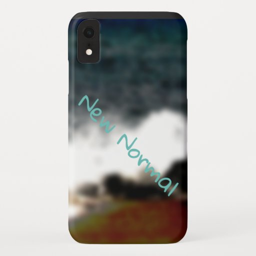 New Normal New Experiences Ocean Blue Digital Art iPhone XR Case