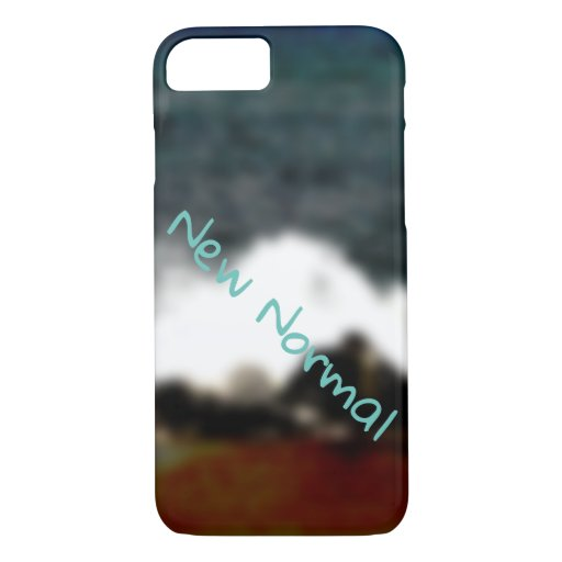 New Normal New Experiences Ocean Blue Digital Art iPhone 8/7 Case