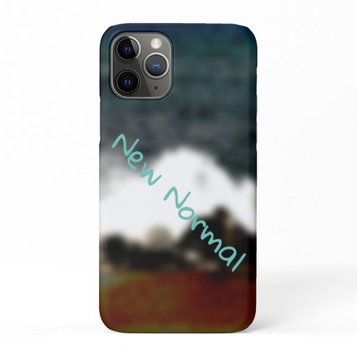 New Normal New Experiences Ocean Blue Digital Art iPhone 11 Pro Case