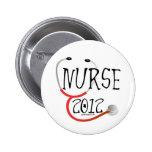 New Nurse Graduation Announcement 2012 Pinback Button