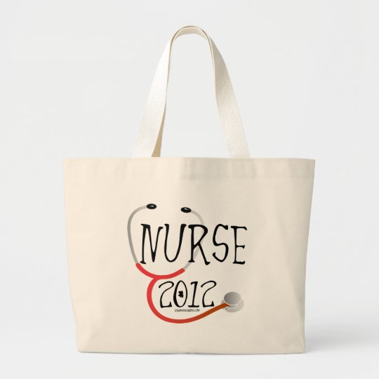 New Nurse Graduation Announcement 2012 Large Tote Bag