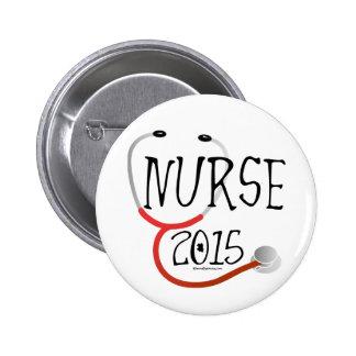 New Nurse Graduation Announcement 2015 2 Inch Round Button