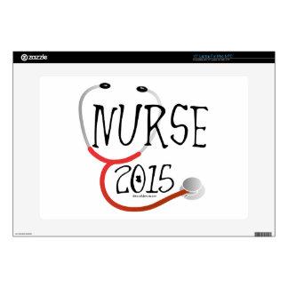 """New Nurse Graduation Announcement 2015 Decal For 15"""" Laptop"""
