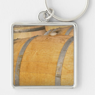 New Oak Wine Barrels Keychain