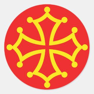 New Occitania, France flag Classic Round Sticker