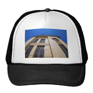 New office building, view from below trucker hat