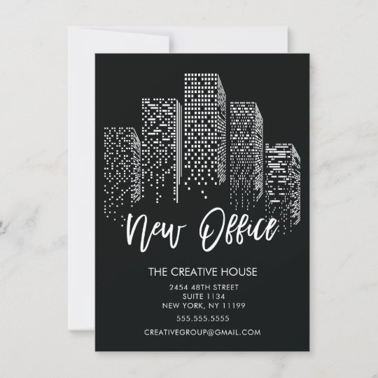 new office city moving announcement zazzle com