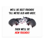 New Old Friends Postcard