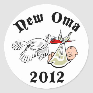 New Oma 2012 Classic Round Sticker