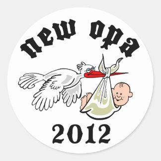 New Opa 2012 Classic Round Sticker