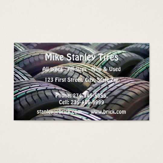 New or  Used Tire sales Custom Business Business Card