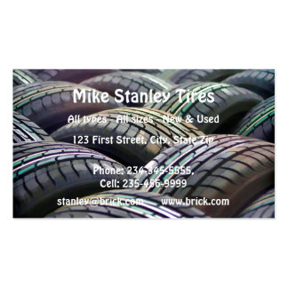 New or  Used Tire sales Custom Business Business Card Templates