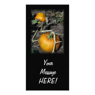 New Orange Pumpkin Photo Card Invitation CUSTOMIZE