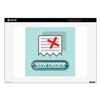 """New order Button Icon Vector 15"""" Laptop Decal"""