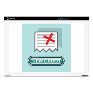 """New order Button Icon Vector 17"""" Laptop Skins"""