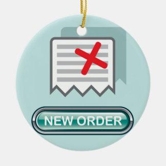 New order Button Icon Vector Ceramic Ornament
