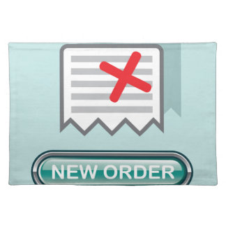 New order Button Icon Vector Placemat