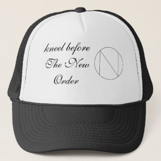 new order logo, kneel before The New Order Trucker Hat