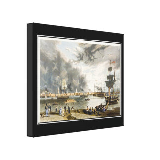 New Orleans 1841 Vintage Wrapped  Canvas Canvas Print