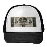 New Orleans 1850 nota de cinco dólares Gorro