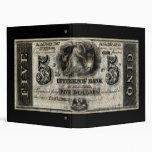 New Orleans 1852 nota de cinco dólares