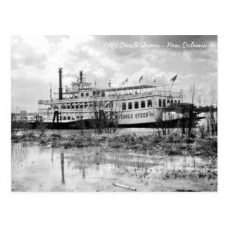 New Orleans 1989 River Boat Paddle-Wheeler Postcard
