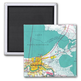 New Orleans 2 Inch Square Magnet