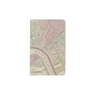 New Orleans 3 Pocket Moleskine Notebook Cover With Notebook
