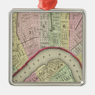 New Orleans 4 Square Metal Christmas Ornament
