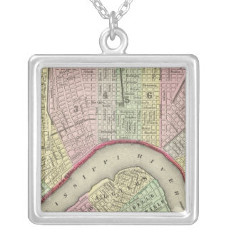 New Orleans 4 Square Pendant Necklace