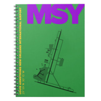 New Orleans Airport (MSY) Diagram Notebook