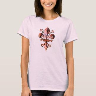 New Orleans Antique Fleur de lis metallic T-Shirt