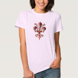 New Orleans Antique Fleur de lis metallic Tee Shirt