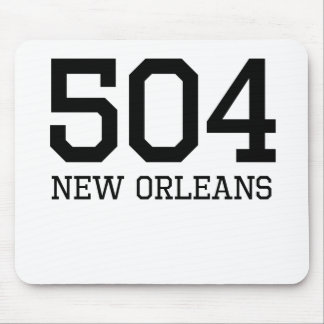 New Orleans Area Code 504 Mouse Pads