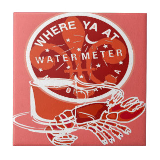 New Orleans Art Symbols Ceramic Tile